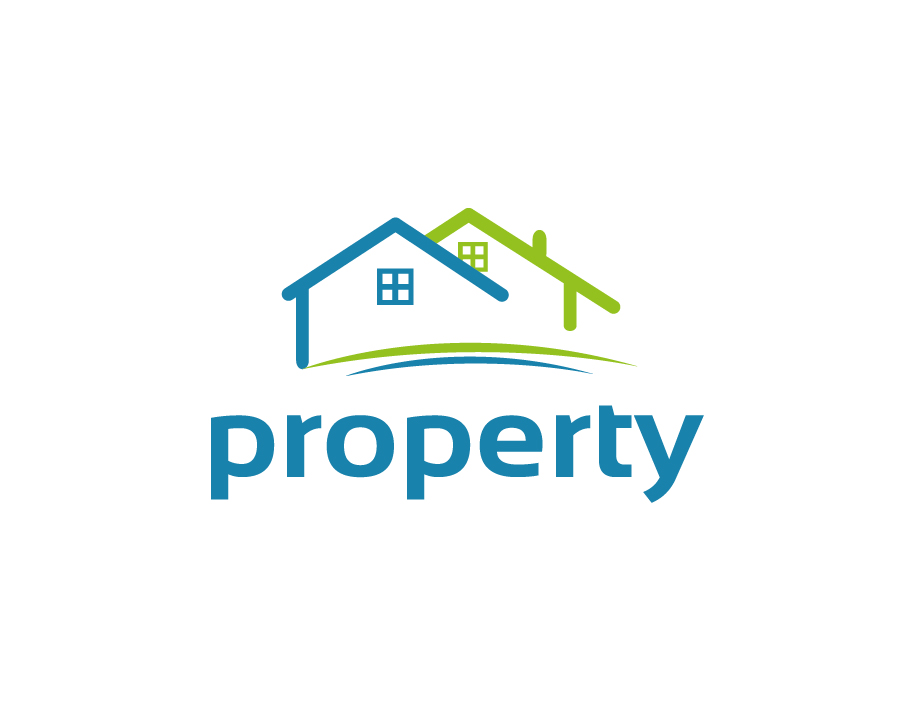 Property Logo – Abstract Outlined Houses