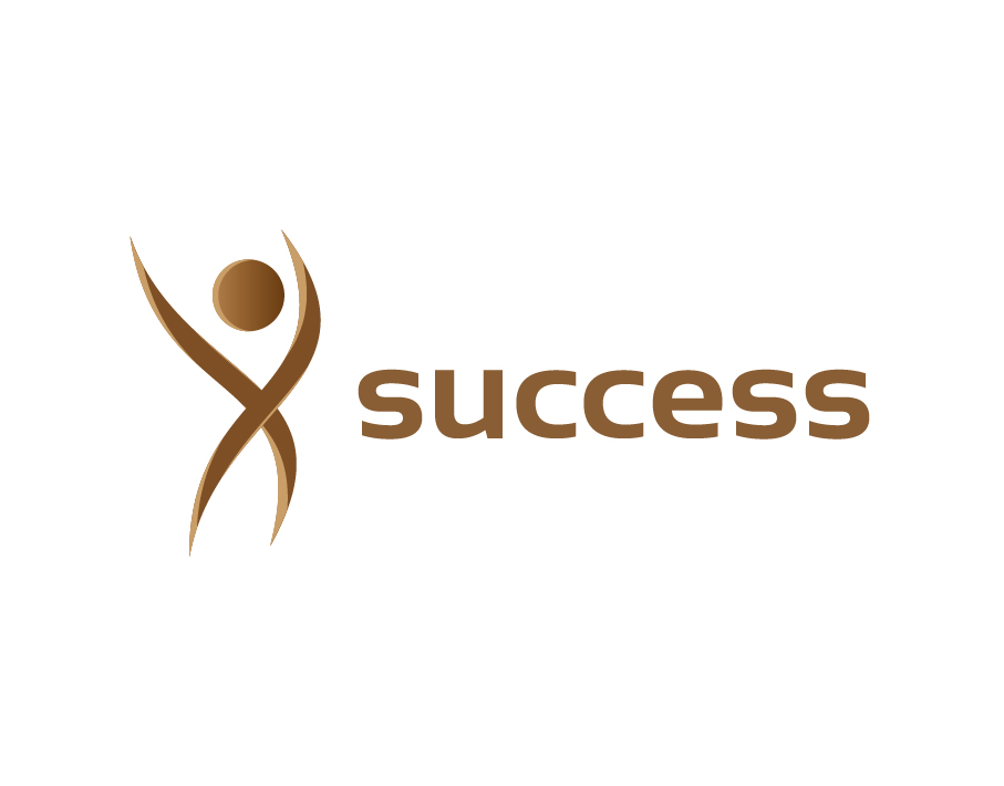 Success Logo with Stickman Icon