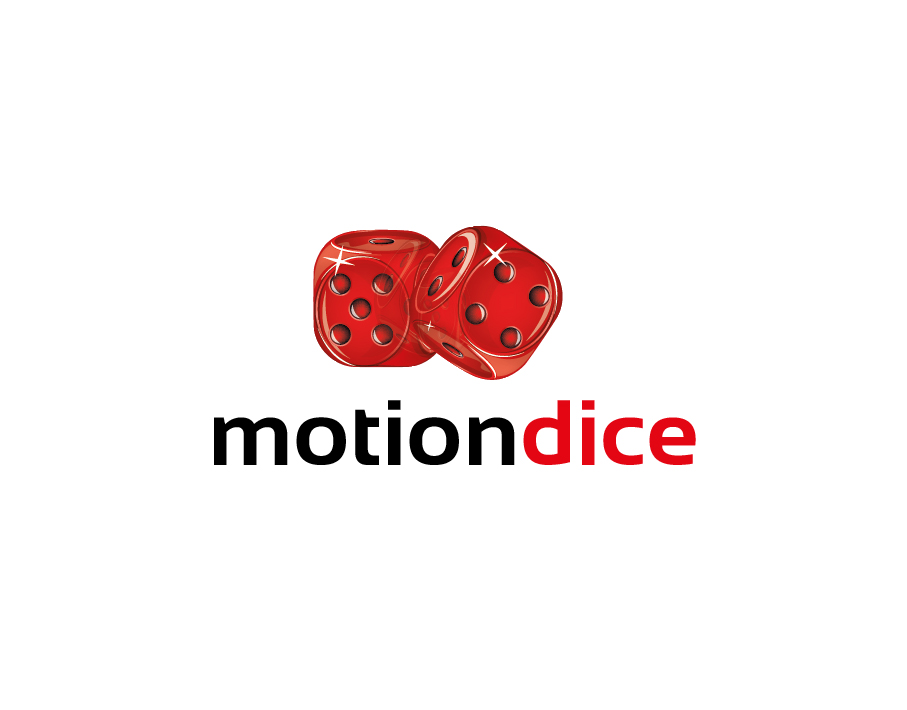 MotionDice Logo – A Pair of Red Wooden Dice