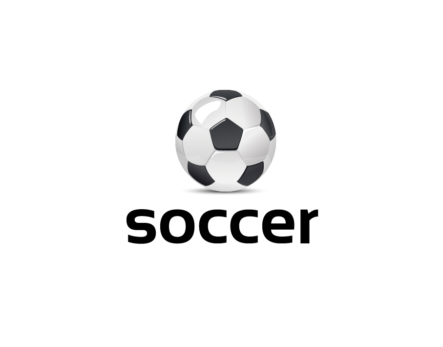 Soccer Logo Black And White Soccer Ball With Bold Text